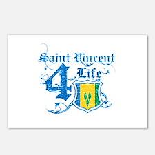 Saint Vincent for life designs Postcards (Package