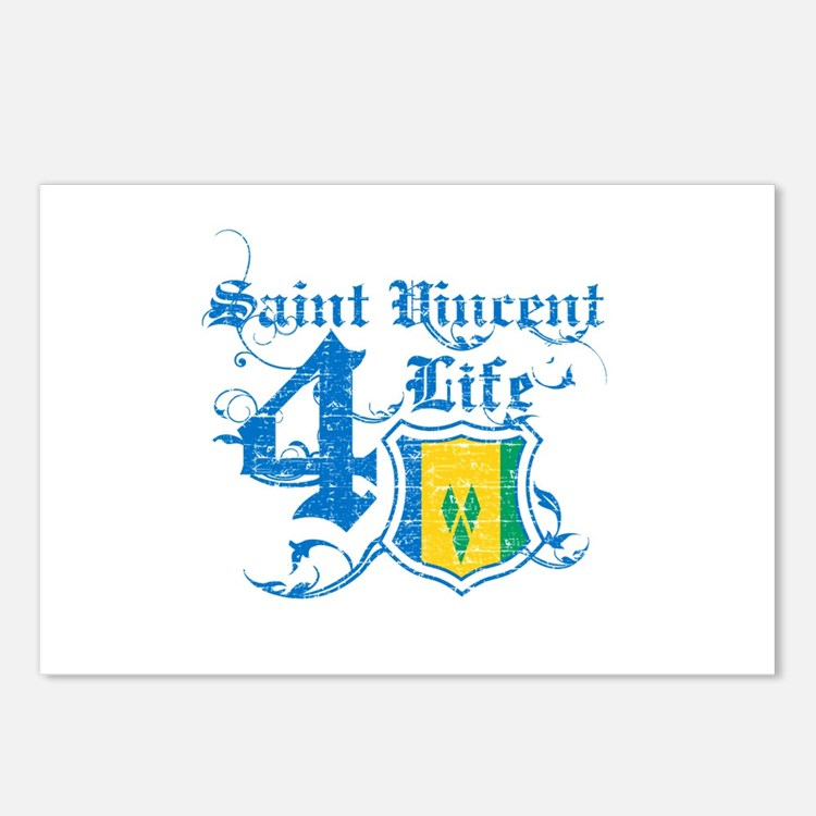 Saint Vincent for life designs Postcards (Package