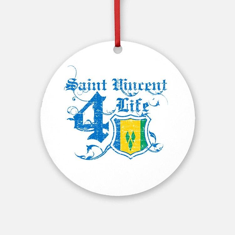 Saint Vincent for life designs Ornament (Round)