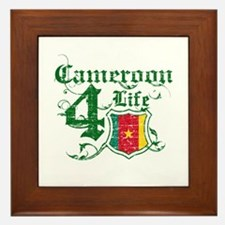 Cameroon for life designs Framed Tile