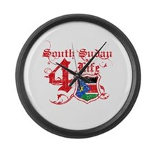 South Sudan for life designs Large Wall Clock