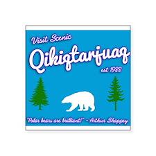 "Qikiqtarjuaq Tourism Square Sticker 3"" x 3"""