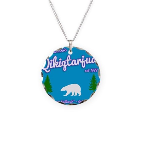 Qikiqtarjuaq Tourism Necklace Circle Charm