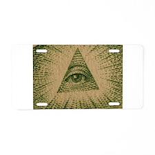 Eye on Your Dollar Aluminum License Plate