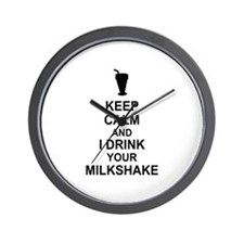 Keep Calm Milkshake Wall Clock