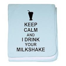 Keep Calm Milkshake baby blanket