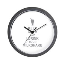 Keep Calm Milkshake Wall Clock