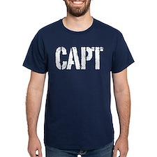 CAPT rank white print T-Shirt