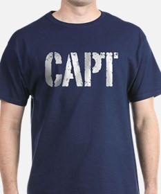 CAPT rank white print T-Shirt