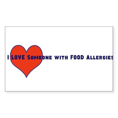 Food Allergy Sticker (Rectangle)