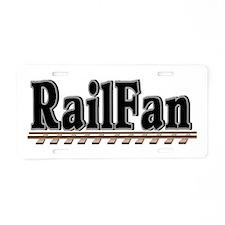 Railfan Aluminum License Plate