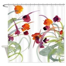Atom Flowers #24 Shower Curtain