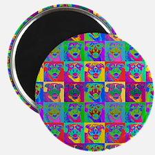 """Op Art Pitbull 2.25"""" Magnet (100 pack)"""