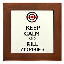 Keep Calm and Kill Zombies Framed Tile
