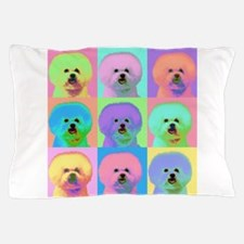 Op Art Bichon Pillow Case