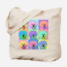 Op Art Bichon Tote Bag