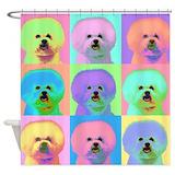 Bichon frise Shower Curtains