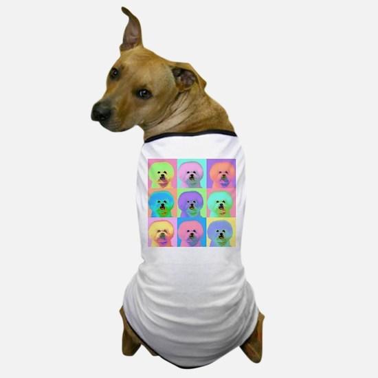Op Art Bichon Dog T-Shirt