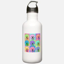 Op Art Bichon Water Bottle