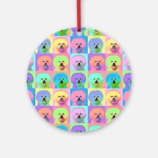 Op Art Bichon Ornament (Round)