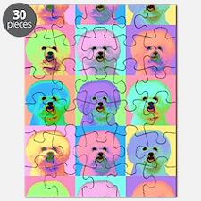 Op Art Bichon Puzzle