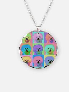 Op Art Bichon Necklace