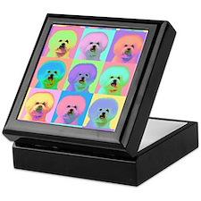 Op Art Bichon Keepsake Box