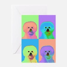 Op Art Bichon Greeting Card