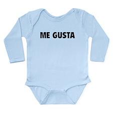 Me Gusta Long Sleeve Infant Bodysuit