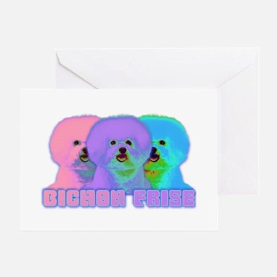 Op Art Bichon Greeting Card