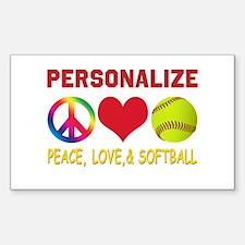 Personalize Girls Softball Decal