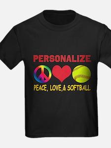 Personalize Girls Softball T