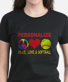 Personalize Girls Softball Tee