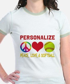 Personalize Girls Softball T