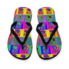 Op Art Shar Pei Flip Flops