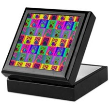 Op Art Shar Pei Keepsake Box