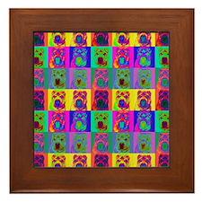 Op Art Shar Pei Framed Tile