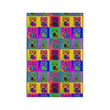 Op Art Shar Pei Rectangle Magnet
