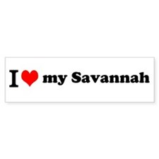 I (heart) Savannah Bumper Bumper Sticker