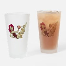 Zombie Girl Drinking Glass