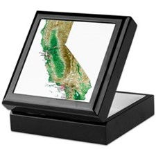 Unique California Keepsake Box
