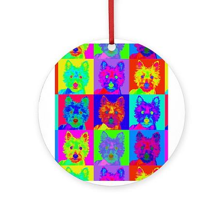 Op Art Westie Ornament (Round)