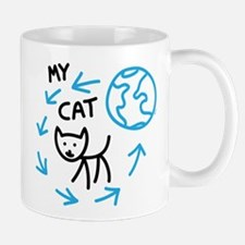 World Revolves Around My Black Cat Mug