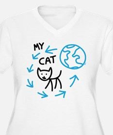 World Revolves Around My Black Cat T-Shirt
