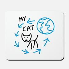 World Revolves Around My Black Cat Mousepad