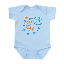 World Revolves Around My Tabby Cat Infant Bodysuit