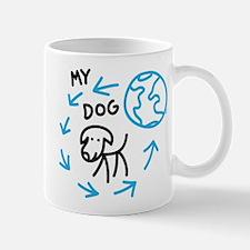 World Revolves Around My Black Dog Mug