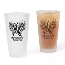 Butterfly Carcinoid Cancer Drinking Glass