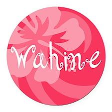 Wahine Round Car Magnet
