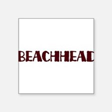 "Beachhead Square Sticker 3"" x 3"""